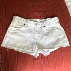 Madewell White Jean Shorts